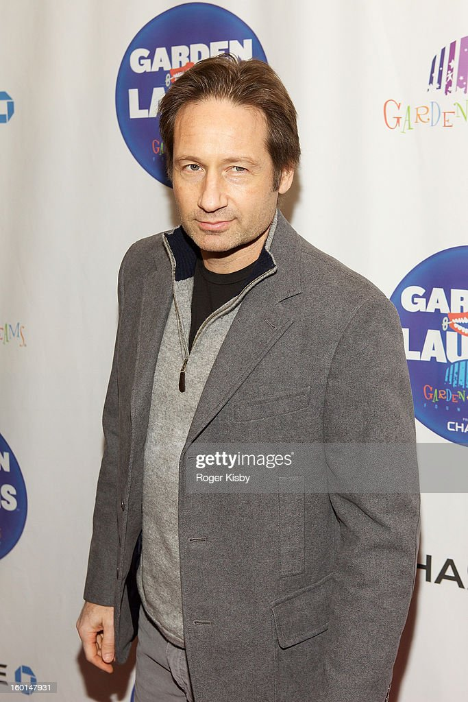 David Duchovney attends 'Garden Of Laughs' benefit at Madison Square Garden on January 26, 2013 in New York City.