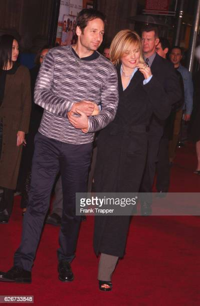 David Duchovny and Tea Leoni arrive at the premiere of 'The Royal Tenenbaums'