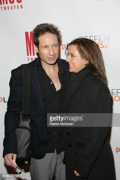 David Duchovny and Tea Leoni attend THE BREAK OF NOON opening night at The Lucille Lortel Theatre on November 22 2010 in New York City