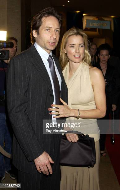 David Duchovny and Tea Leoni during UNICEF Goodwill Gala Celebrating 50 Years of Celebrity Goodwill Ambassadors Red Carpet at The Beverly Hilton in...