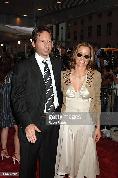 David Duchovny and wife Tea Leoni during 'Trust the Man' New York Premiere Outside Arrivals at Chelsea West Theatre in New York City New York United...