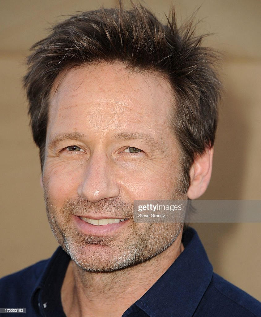 David Duchovny arrives at the Television Critic Association's Summer Press Tour - CBS/CW/Showtime Party at 9900 Wilshire Blvd on July 29, 2013 in Beverly Hills, California.