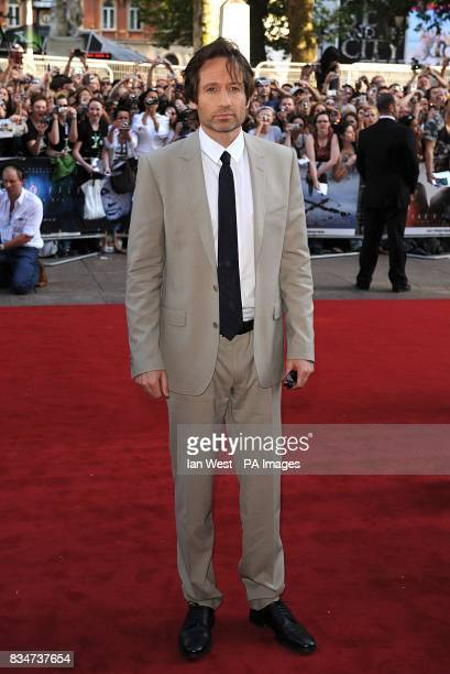 David Duchovny arrives for the UK premiere of 'The X Files I want to Believe' at the Empire Leicester Square WC2