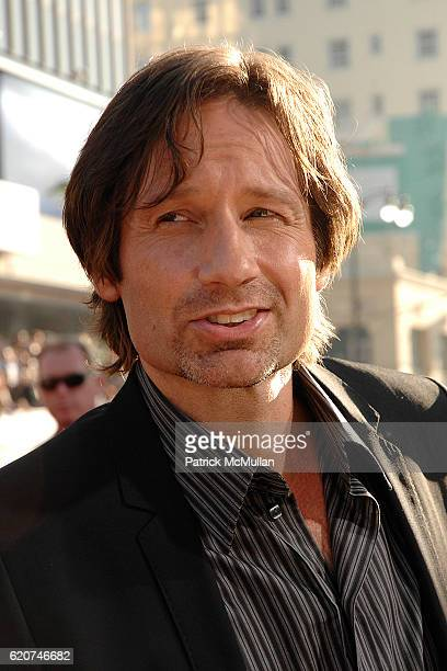 David Duchovny attends 20th Century Fox World Premiere Of 'The X Files I Want To Believe' at Graumans Chinese Theater on July 23 2008 in Hollywood CA