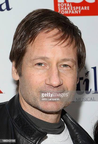 David Duchovny attends the 'Matilda The Musical' Broadway Opening Night at Shubert Theatre on April 11 2013 in New York City