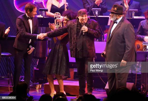 David Duchovny Esperanza Spaulding Steve Van Zandt and Taj Mahal onstage at the show finale at the 2017 Kennedy Center Spring Gala Come Together A...