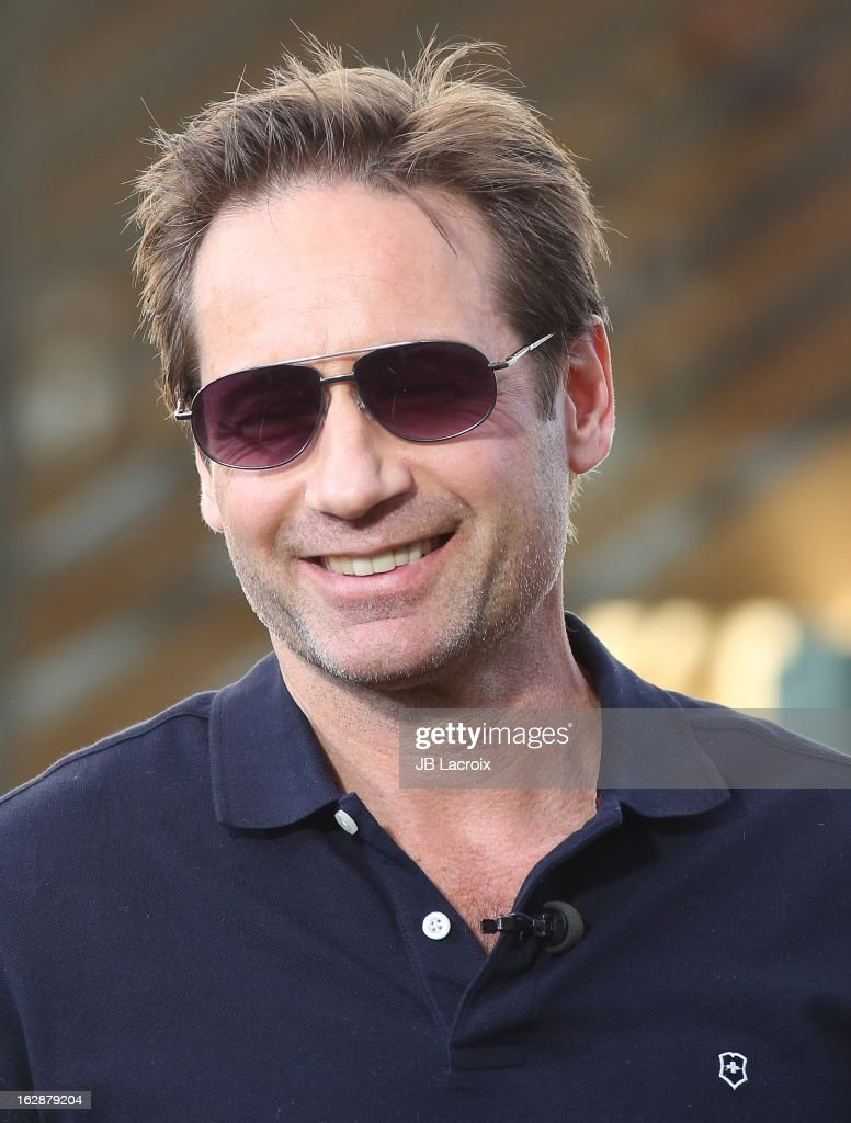 David Duchovny is seen at The Grove on February 28, 2013 in Los Angeles, California.