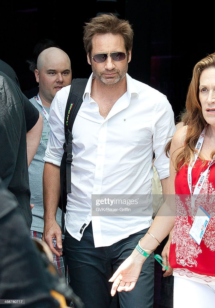 David Duchovny is seen on September 18, 2013 in San Diego, California.