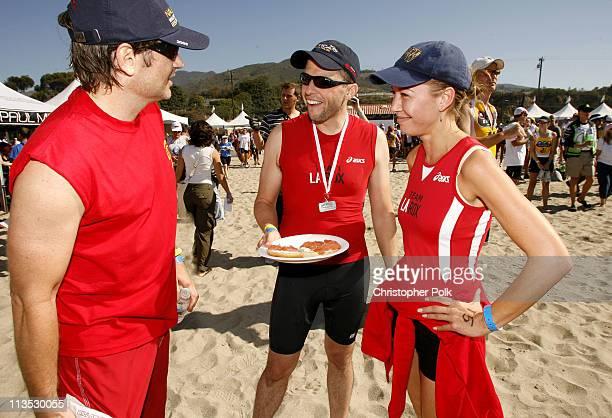 David Duchovny Jon Cryer and Lisa Joyner during The 20th Annual Nautica Malibu Triathlon for the Elizabeth Glaser Pediatric AIDS Foundation at Zuma...