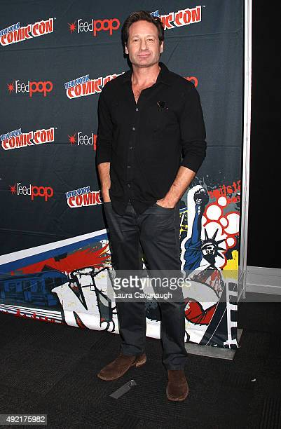 David Duchovny of 'The XFiles' attends New York ComicCon 2015 day three at The Jacob K Javits Convention Center on October 10 2015 in New York City