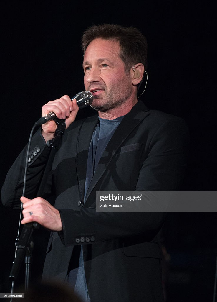 David Duchovny performs at the Union Chapel on May 6, 2016 in London, England.