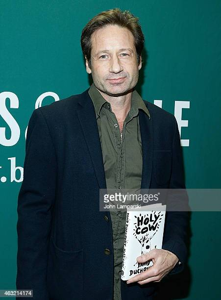 David Duchovny signs copies of his book 'Holy Cow' at Barnes Noble Union Square on February 11 2015 in New York City