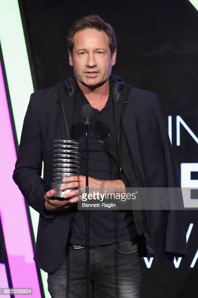 David Duchovny speaks onstage at the The 21st Annual Webby Awards at Cipriani Wall Street on May 15 2017 in New York City