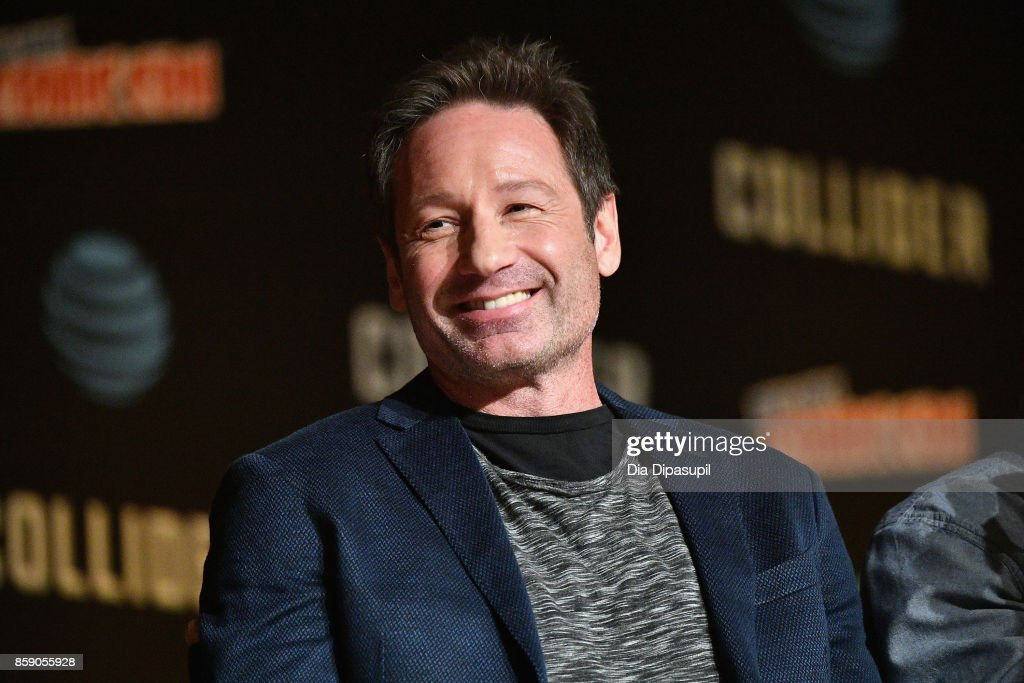 David Duchovny speaks onstage at The X-Files panel during 2017 New York Comic Con -Day 4 on October 8, 2017 in New York City.