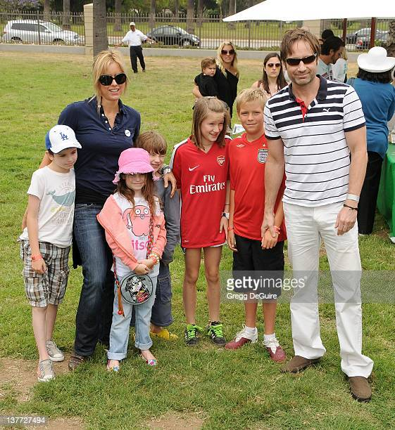 David DuchovnyTea Leoni and children arrive at the 21st Annual A Time For Heroes Celebrity Picnic sponsored by Disney to benefit The Elizabeth Glaser...