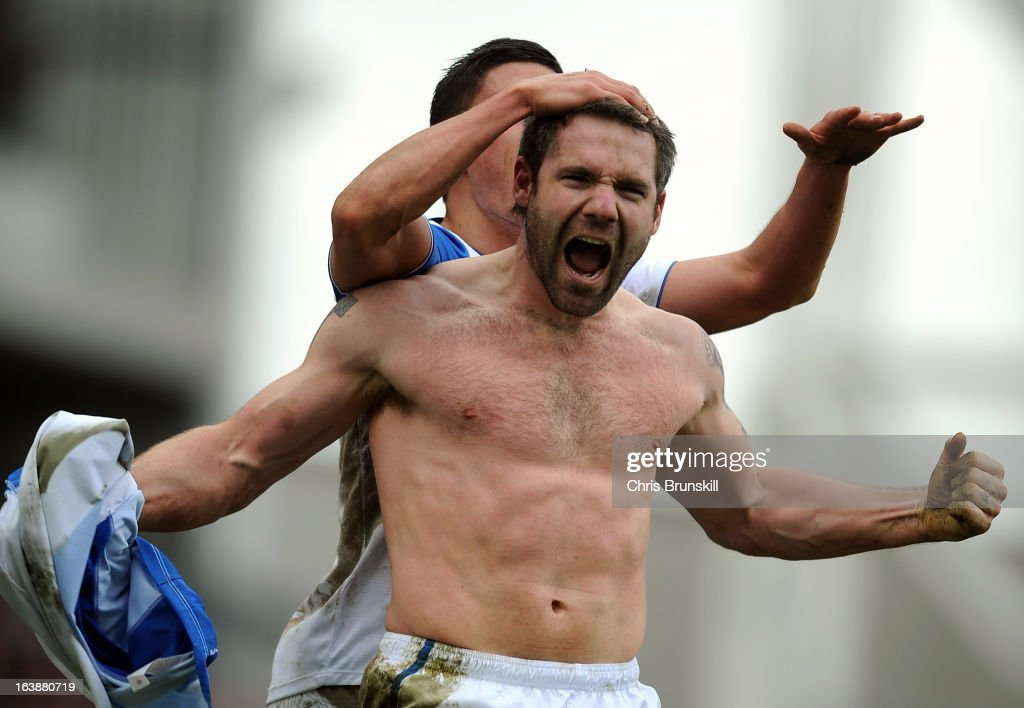 <a gi-track='captionPersonalityLinkClicked' href=/galleries/search?phrase=David+Dunn&family=editorial&specificpeople=217304 ng-click='$event.stopPropagation()'>David Dunn</a> of Blackburn Rovers celebrates scoring the equaliser during the npower Championship match between Blackburn Rovers and Burnley at Ewood park on March 17, 2013 in Blackburn, England.