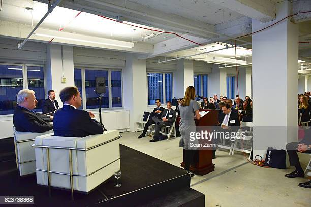David Durning Michael Higgins and Mark S Edelstein attend The Commercial Observer Financing Commercial Real Estate at 666 Fifth Avenue on November 15...