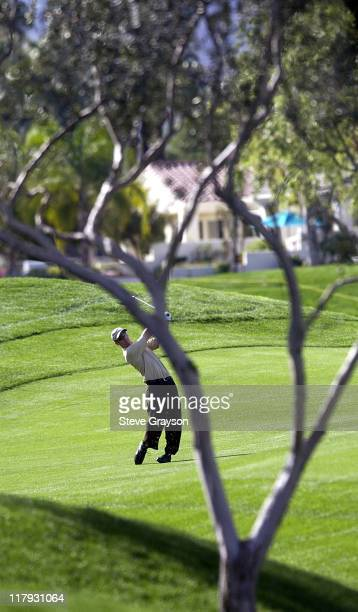 David Duval during 44th Bob Hope Chrysler Classic Round Four at Arnold Palmer Private Course at PGA West in La Quinta California United States