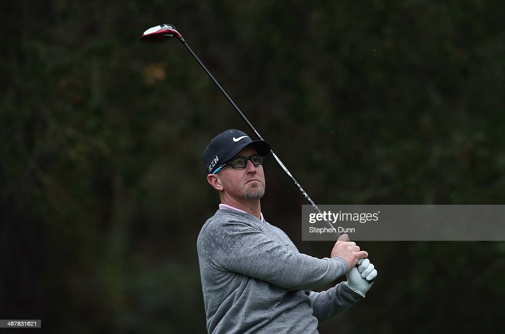 <a gi-track='captionPersonalityLinkClicked' href=/galleries/search?phrase=David+Duval&family=editorial&specificpeople=202132 ng-click='$event.stopPropagation()'>David Duval</a> plays a shot during the second round of the AT&T Pebble Beach National Pro-Am at the Spyglass Hill Golf Course on February 7, 2014 in Pebble Beach, California.