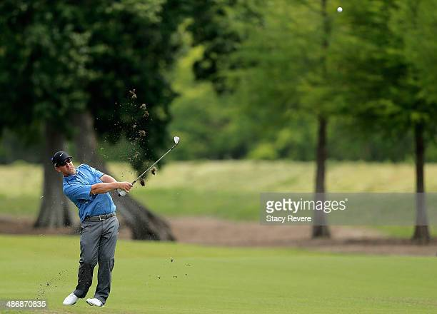 David Duval takes his shot on the 2nd during Round Three of the Zurich Classic of New Orleans at TPC Louisiana on April 26 2014 in Avondale Louisiana