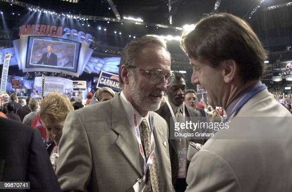David E Bonior DMich on the floor at the democratic national convention in Los Angeles Ca