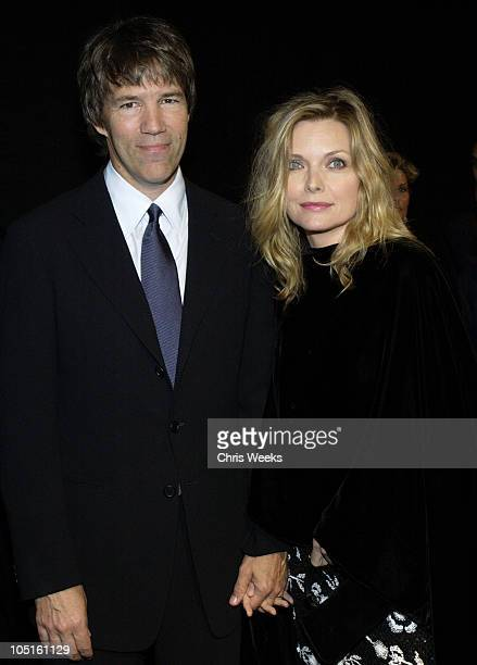 David E Kelley and Michelle Pfeiffer during Giorgio Armani Receives The First Rodeo Drive Walk Of Style Award Arrivals at Rodeo Drive Walk Of Style...