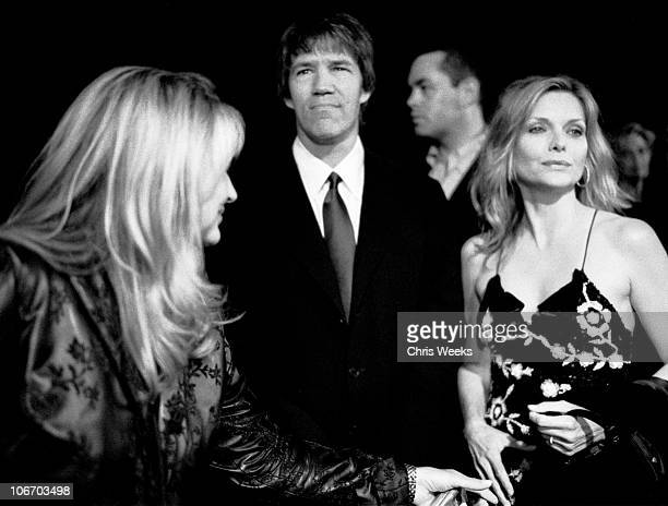 David E Kelley and Michelle Pfeiffer during Giorgio Armani Receives First 'Rodeo Drive Walk Of Style' Award Black White Photography by Chris Weeks at...