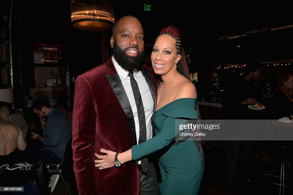 David E. Talbert (L) and Lyn Talbert attend the after party for Special Screening Of Netflix Films' 'El Camino Christmas' at ArcLight Cinemas on December 6, 2017 in Hollywood, California.