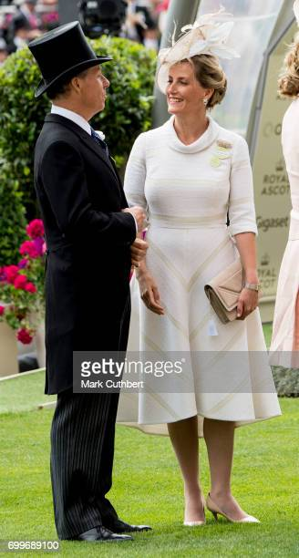 David Earl of Snowdon and Sophie Countess of Wessex attend day 3 'Ladies Day' of Royal Ascot 2017 at Ascot Racecourse on June 22 2017 in Ascot England
