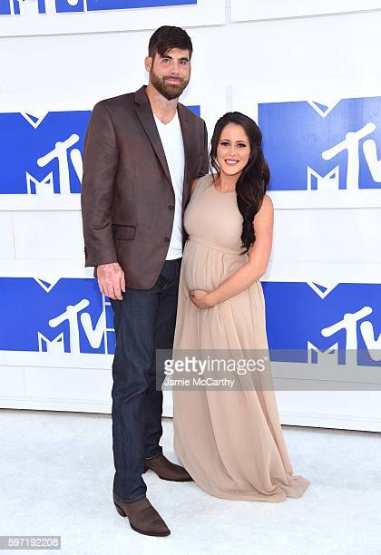 David Eason and Jenelle Evans attend the 2016 MTV Video Music Awards at Madison Square Garden on August 28 2016 in New York City