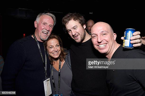 David Eckles Susan Turley Mike Day and a guest attend the Film Independent International Documentary Association Oovra Music And RO*CO FILMS Sundance...