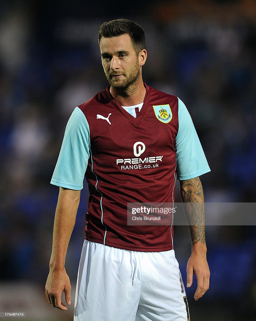 David Edgar of Burnley in action during the pre season friendly match between Tranmere Rovers and Burnley at Prenton Park on July 23, 2013 in Birkenhead, England.