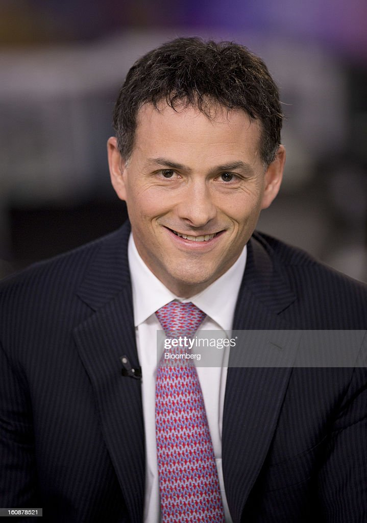 David Einhorn, president and co-founder of Greenlight Capital Inc., sits for a photograph during a Bloomberg Television interview in New York, U.S., on Thursday, Feb. 7, 2013. Apple Inc., the world's most valuable technology company, is being urged by Einhorn's Greenlight Capital Inc. to return more of its $137.1 billion in cash to shareholders. Photographer: Scott Eells/Bloomberg via Getty Images