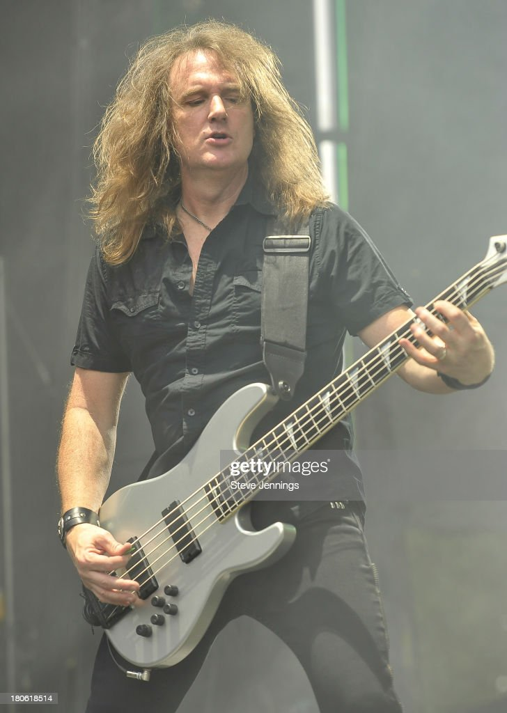 David Ellefson of Megadeth performs on Day 1 of Monster Energy Aftershock Festival at Discovery Park on September 14, 2013 in Sacramento, California.