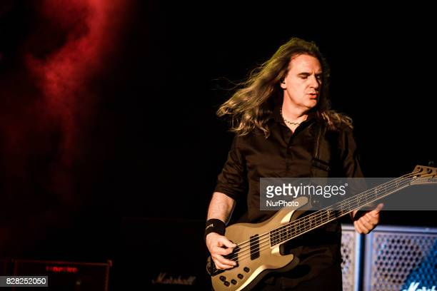 David Ellefson of the american heavy metal band Megadeth performing live at Carroponte Sesto San Giovanni Italy on 8 August 2017