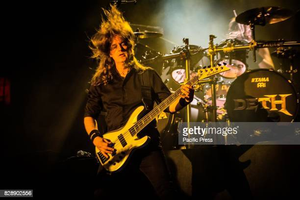 David Ellefson of the american heavy metal band Megadeth pictured on stage as the perform live at Carroponte Milan Italy