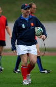 David Ellis France assistant coach during training at the National Centre of Rugby on October 10 2007 in Marcoussis France