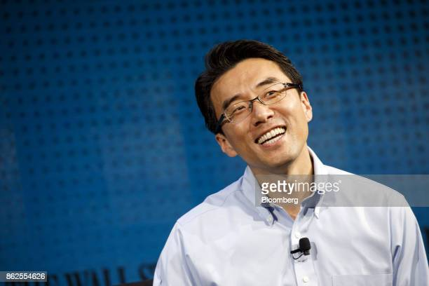David Eun executive vice president and head of Open Innovation Centre at Samusng Electronics Corp smiles during the Wall Street Journal DLive global...