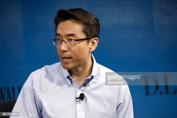 David Eun executive vice president and head of Open Innovation Centre at Samusng Electronics Corp speaks during the Wall Street Journal DLive global...