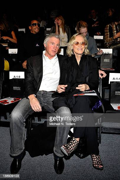 David Evans Shaw and Actress Glenn Close attend the Bibhu Mohapatra Fall 2012 fashion show during MercedesBenz Fashion Week at The Studio at Lincoln...