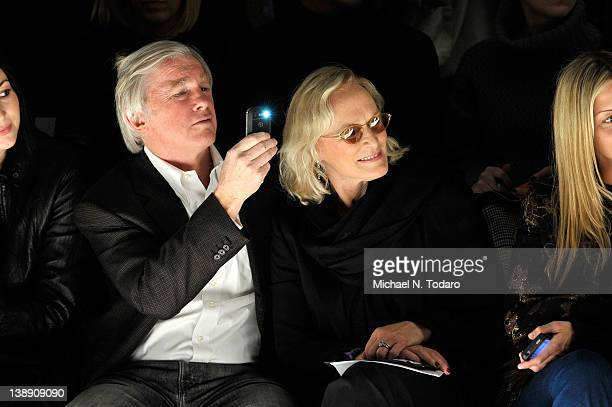 David Evans Shaw and Actress Glenn Close attends the Bibhu Mohapatra Fall 2012 fashion show during MercedesBenz Fashion Week at The Studio at Lincoln...