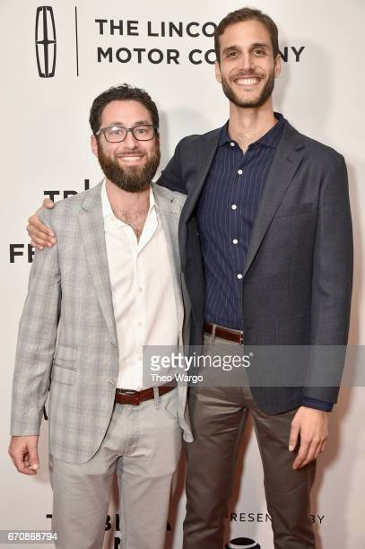 David Fabelo and Drew Xanthopoulos attends the 'The Sensitives' Premiere during 2017 Tribeca Film Festival at Cinepolis Chelsea on April 20 2017 in...