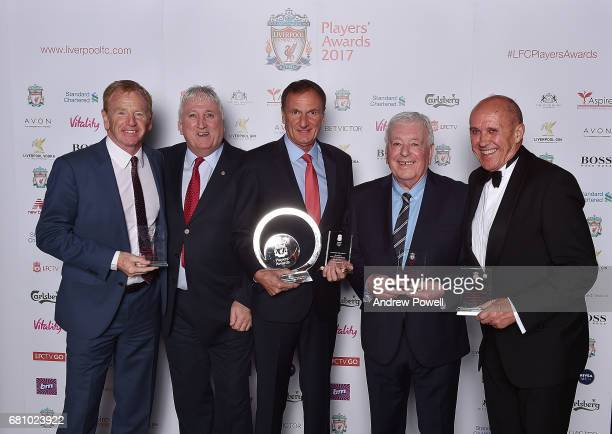 David Fairclough David Johnson Phil Thompson Ian Callaghan Phil Neal ex players of Liverpool after winning the Outstanding Team Achievement Award...