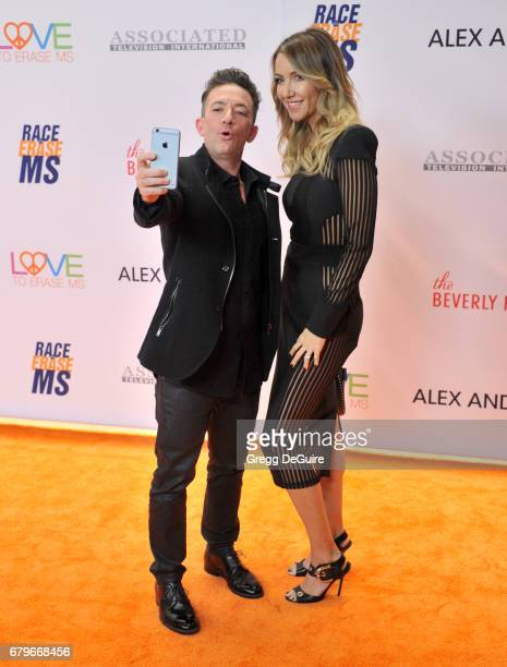 David Faustino and Andrea Faustino arrive at the 24th Annual Race To Erase MS Gala at The Beverly Hilton Hotel on May 5 2017 in Beverly Hills...