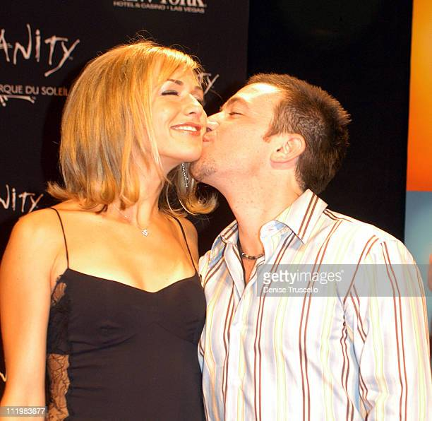 David Faustino With Fiance during 'Zumanity' Opening in Las Vegas at New York New York Hotel Casino Resort in Las Vegas Nevada United States