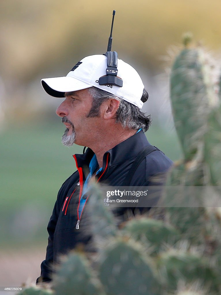David Feherty of CBS Sports reports on the action during the final round of the Waste Management Phoenix Open at TPC Scottsdale on February 2 2014 in...