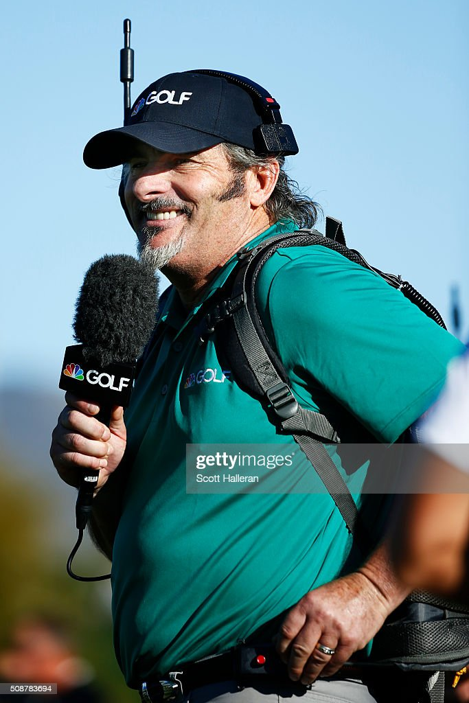 David Feherty reports for NBS Sports on the course during the third round of the Waste Management Phoenix Open at TPC Scottsdale on February 6 2016...