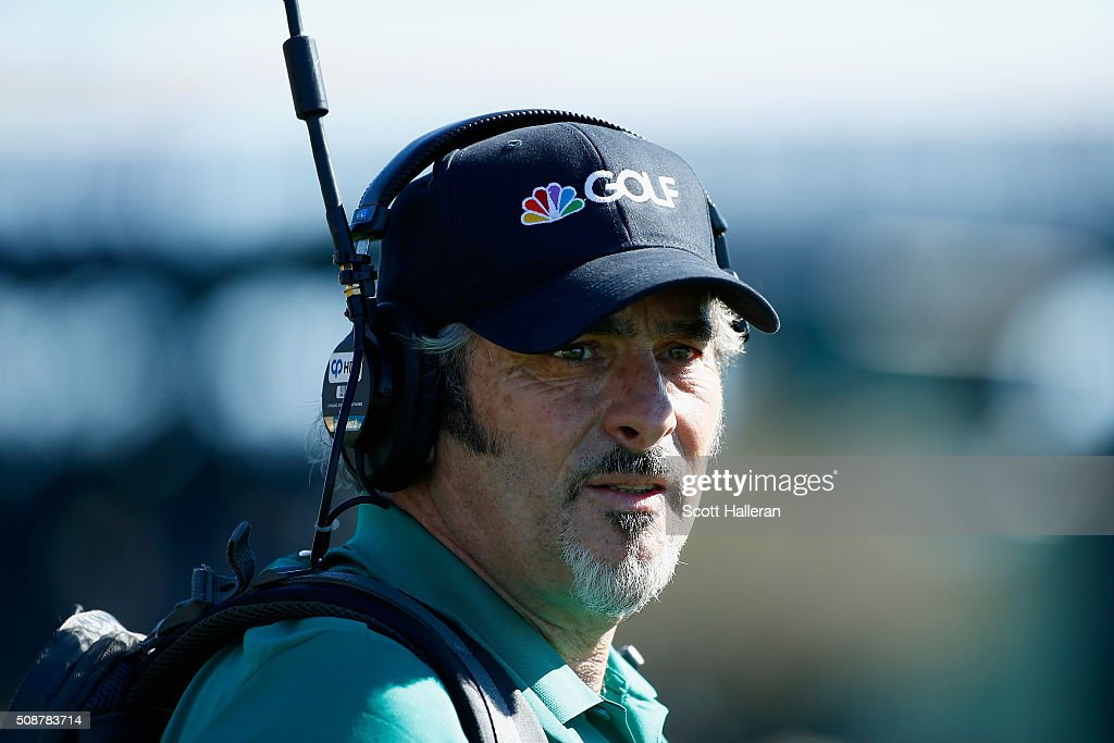 <a gi-track='captionPersonalityLinkClicked' href=/galleries/search?phrase=David+Feherty&family=editorial&specificpeople=3021151 ng-click='$event.stopPropagation()'>David Feherty</a> reports for NBS Sports on the course during the third round of the Waste Management Phoenix Open at TPC Scottsdale on February 6, 2016 in Scottsdale, Arizona.