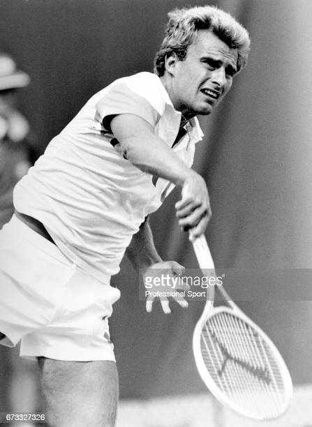 David Felgate of Great Britain in action during the Australian Open Tennis Championships at Flinders Park in Melbourne Australia circa January 1988