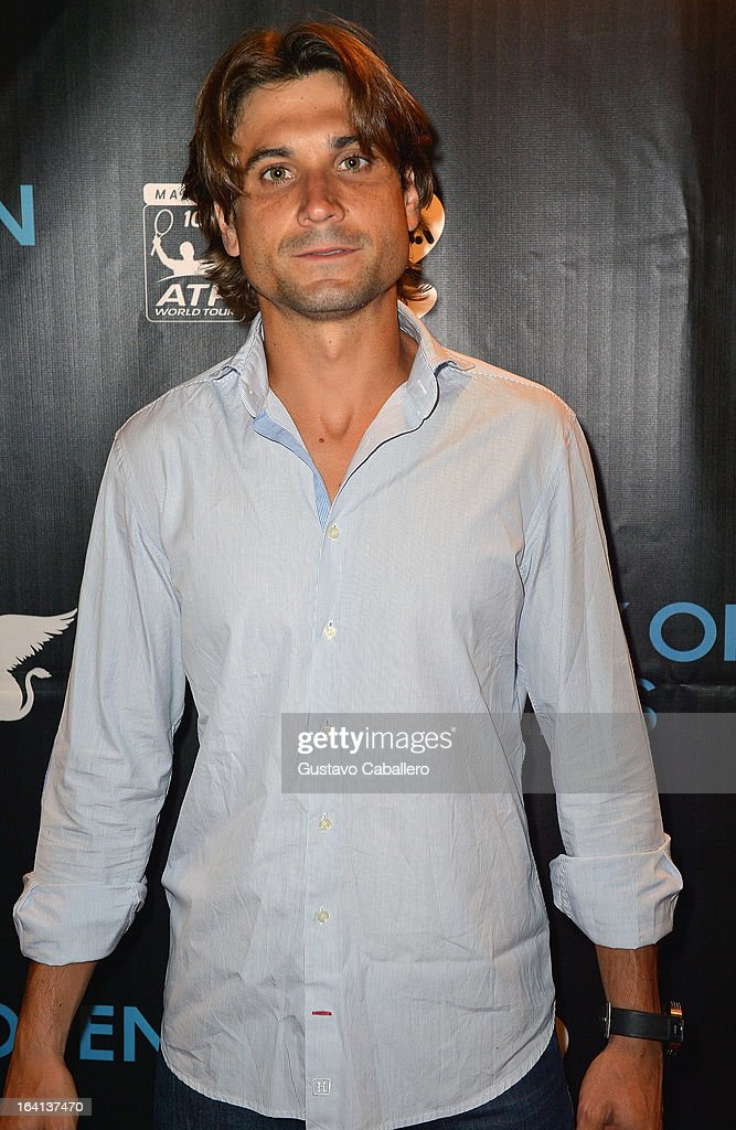 <a gi-track='captionPersonalityLinkClicked' href=/galleries/search?phrase=David+Ferrer&family=editorial&specificpeople=208197 ng-click='$event.stopPropagation()'>David Ferrer</a> arrives at Sony Open Player Party 2013 at JW Marriott Marquis on March 19, 2013 in Miami, Florida.